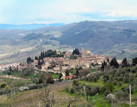 View of Castellina in Chianti