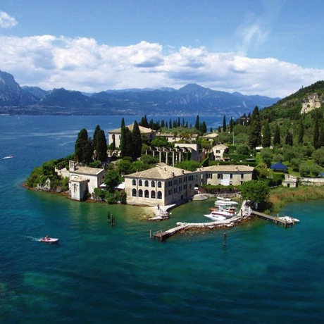 Punta San Virgilio of the town of Garda on Lake Garda