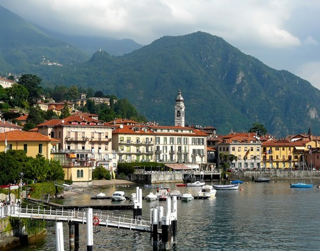 View of the waterfront of Menaggio