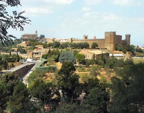 The fortifications of Montalcino in Tuscany