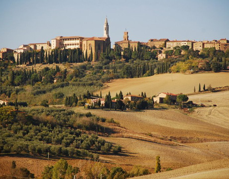 View of destination weddings location Pienza