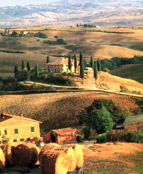 Landscape around destination weddings location San Quirico
