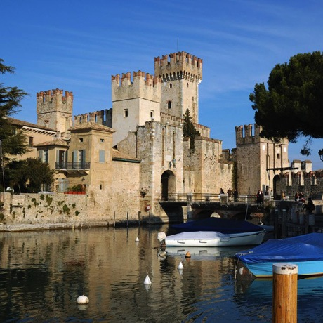 The Scaliger Castle, or Castello Scaligero in Italian, of Sirmione