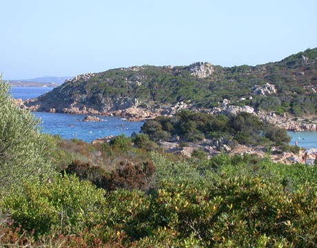 View of destination wedding location Costa Smeralda