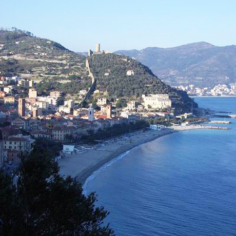 A view of destination wedding location Finale Ligure