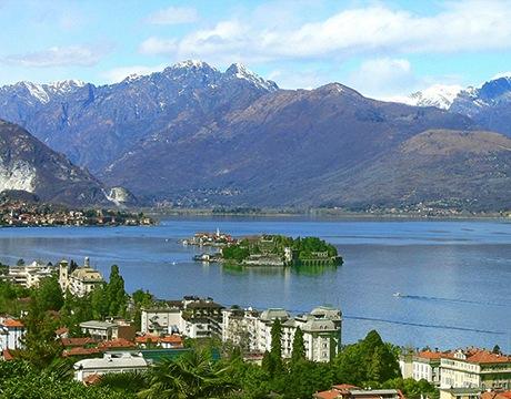View of destination wedding location Lake Maggiore