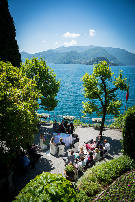 Ceremony setting in Varenna on Lake Como
