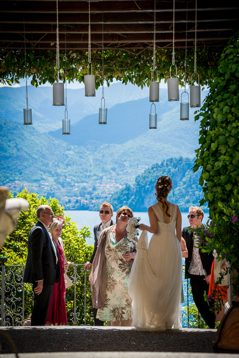 hanging candels in Varenna Wedding on Lake Como