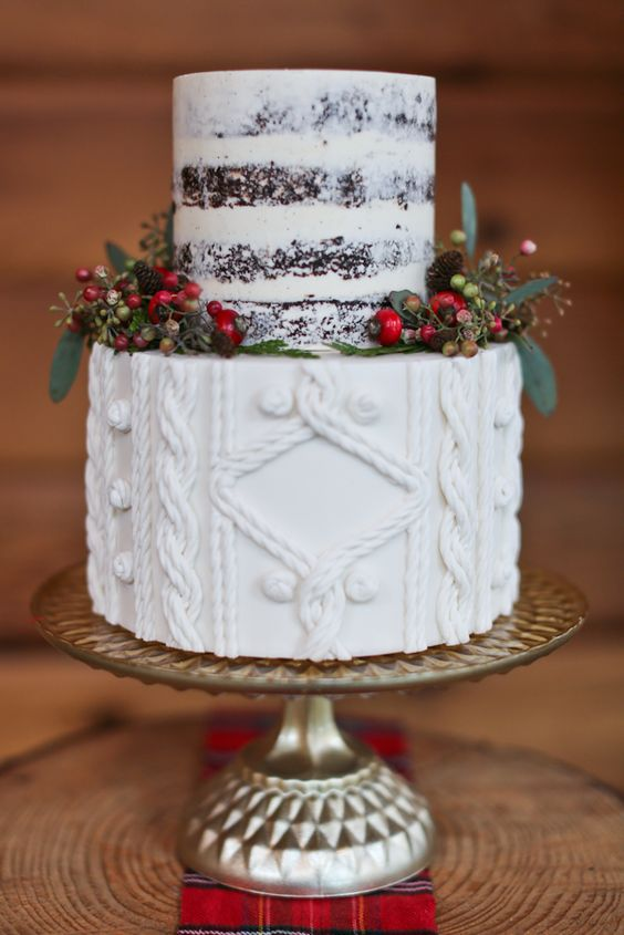 christmasweddingcake