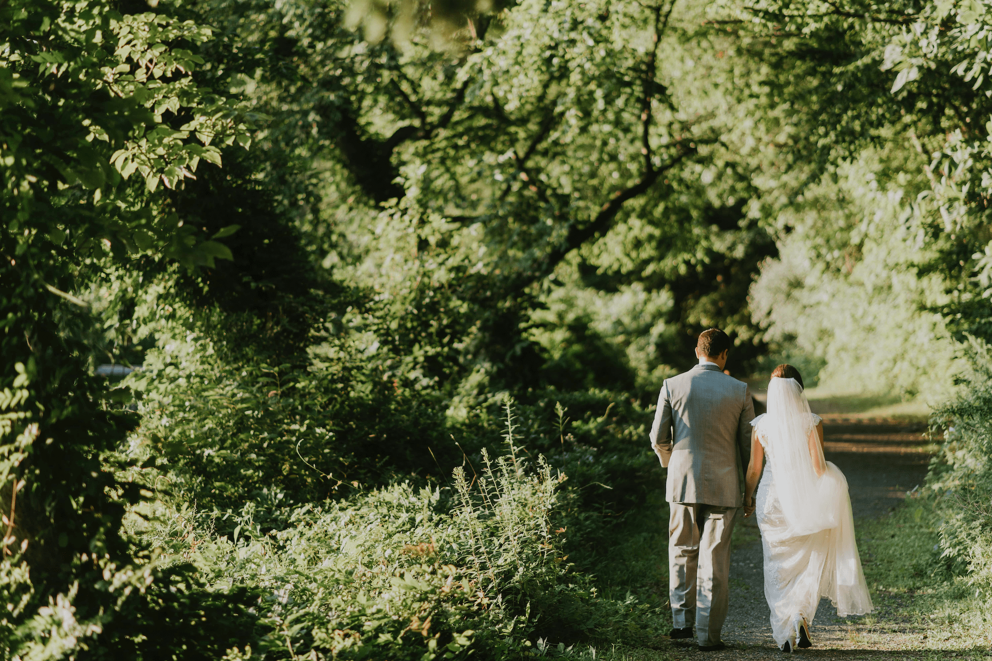 Choose a green place for your wedding: the setting's natural beauty makes purchasing lots of additional decorations unnecessary.
